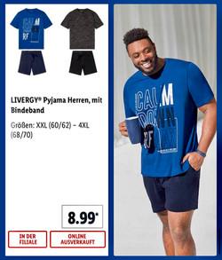 Lidl Germany LIVERGY® pajamas men