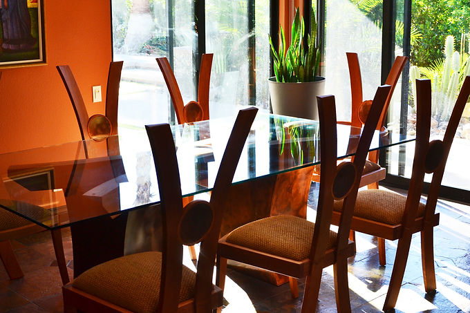 Contemporary Dining Table and Chairs, Custom Designed Furniture
