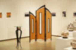 Privacy Screen, Tri Fold Screen, Art Nouveau table, custom furniture