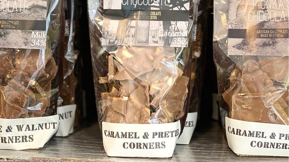 Caramel & Pretzel 34% Milk Chocolate Corners