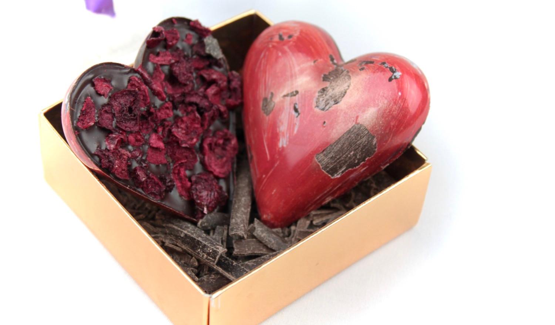 Handmade Dark Chocolate Heart Sour Cherry