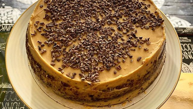 White Caramel & Cocoa Nibs Carrot Cake