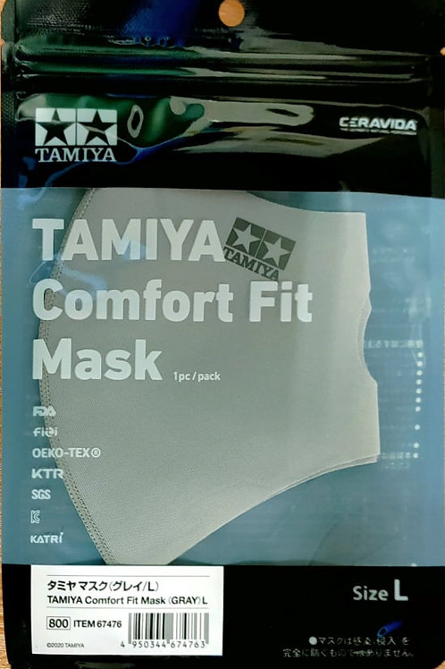 Tamiya  67476 Comfort Fit Face Mask (Grey) L (Large), Brand New