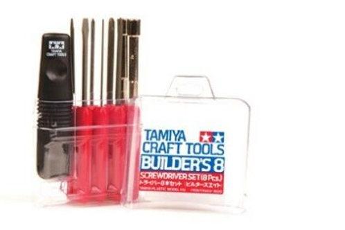 Tamiya 8 Piece Screw Driver Tool Kit Set 74023