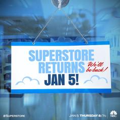 NBC's Superstore Show Return Announcement Art