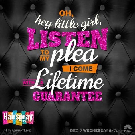 Hairspray LIVE! - Lyric Artwork