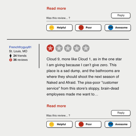 Superstore Yelp-like Review Art