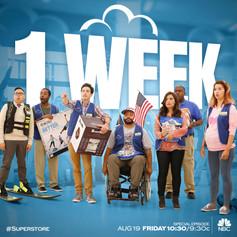 NBC Superstore Countdown Art - 1 Week