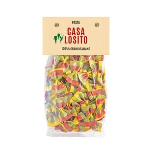 Farfalle rosso, giallo e verde (bolsa)