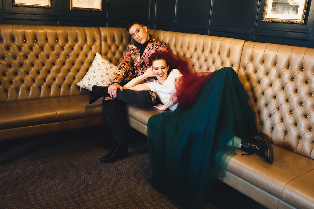 Alternative and glam wedding