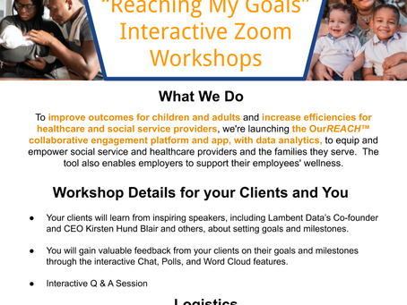 Lambent Data Offers Zoom Workshops to Social Service Organizations and Employers