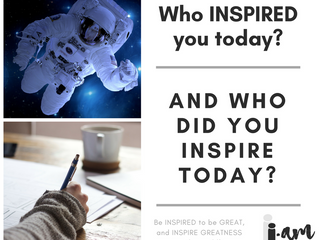 BE Inspired and BE Inspirational!