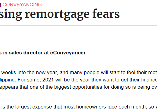 Addressing remortgage fears...