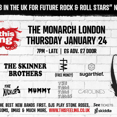 """Carolines  added to This Feeling """"Big in 2019"""" London Gig 24th Jan 2019 !"""