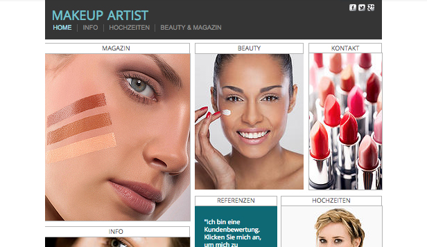 Portfolio website templates – Makeup-Artist