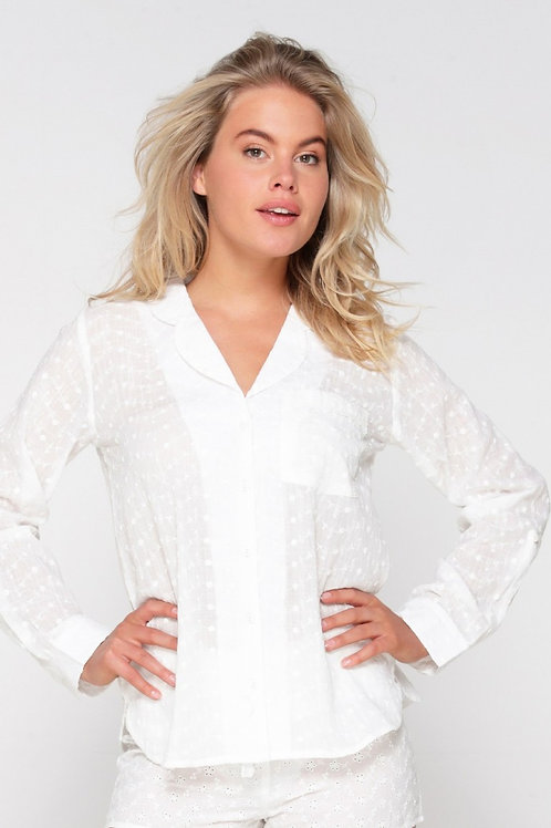 Lingadore Off White PJ Shirt