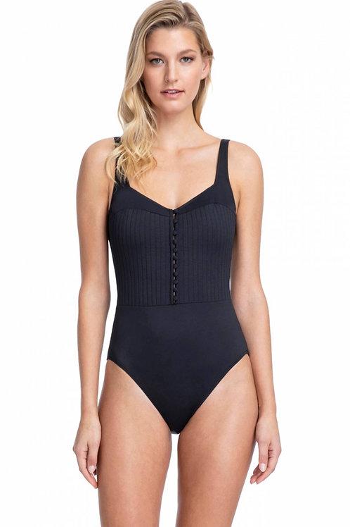 Gottex Bardot Square Neck Swimsuit