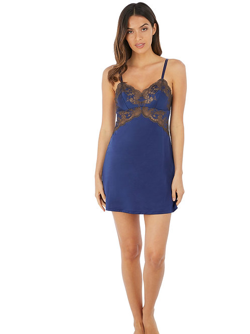 Wacoal Chemise in Blue & Chocolate
