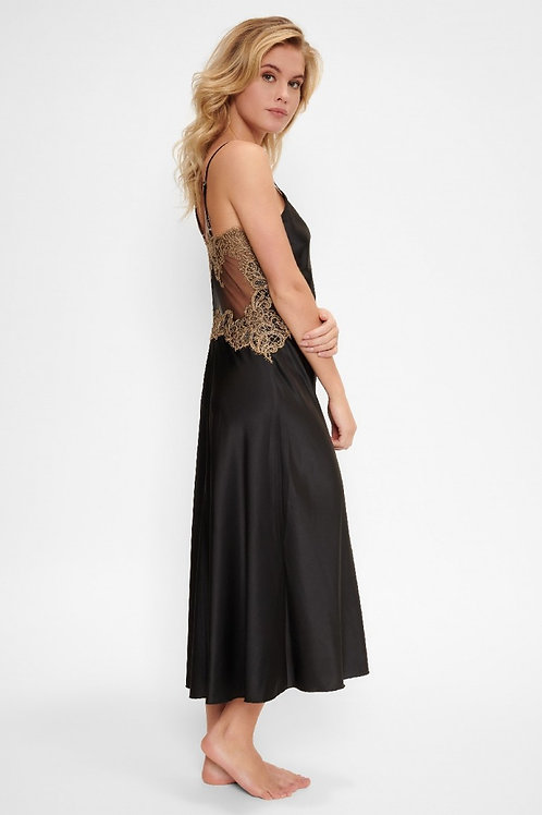 Lingadore Black Incense Long Dress