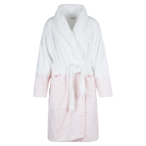 Lingadore Fluffy Bathrobe in White Rose