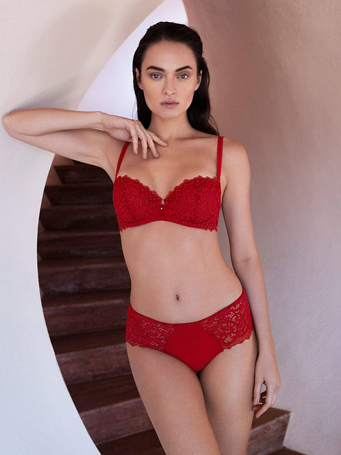 Wacoal Lace Essential Red Balcony Bra