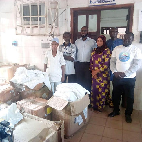 Donations to hospital in Gambia