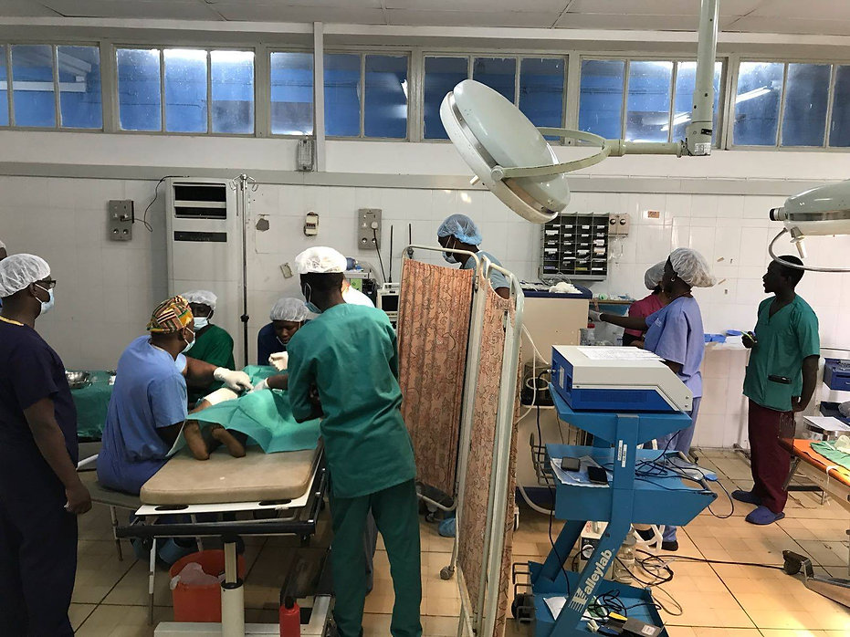 Operating room in The Gambia
