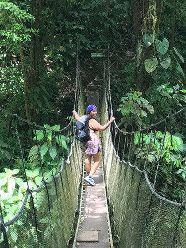 hanging bridge and hike, Costa Rica