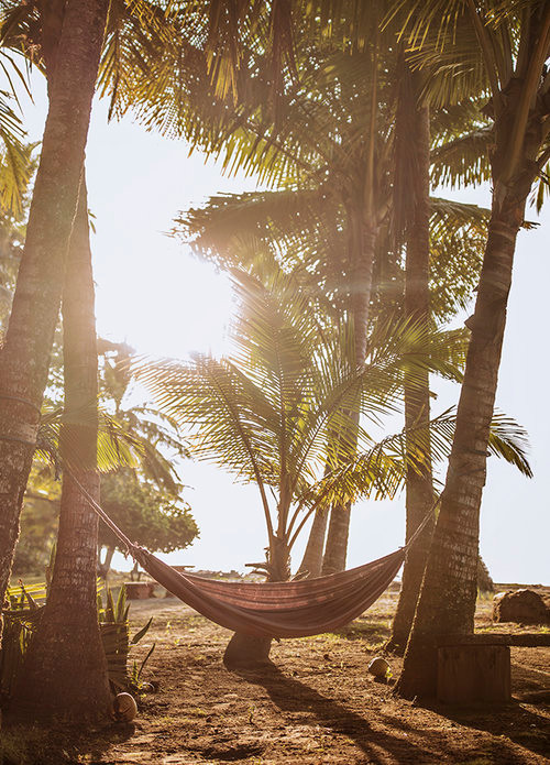 chill and relax in your private hammock on the beach