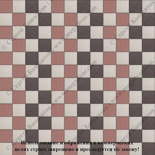 Квадрат 100х100 Стандарт (коричневый, красный, белый)