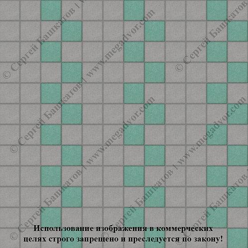 Квадрат 100х100 Эконом (серый, зелёный)