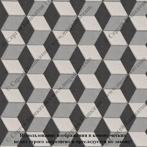 Ромб 3D Мини (серый, белый, чёрный)