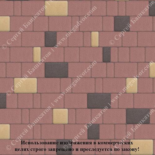 Старый Город Эконом (красный, коричневый, жёлтый)