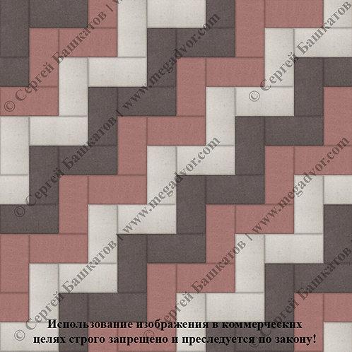 Кирпичик Максимум (белый, красный, коричневый)