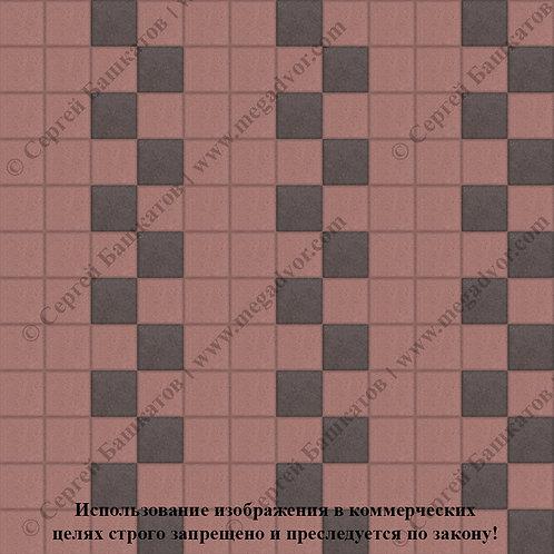 Квадрат 100х100 Эконом (красный, коричневый)