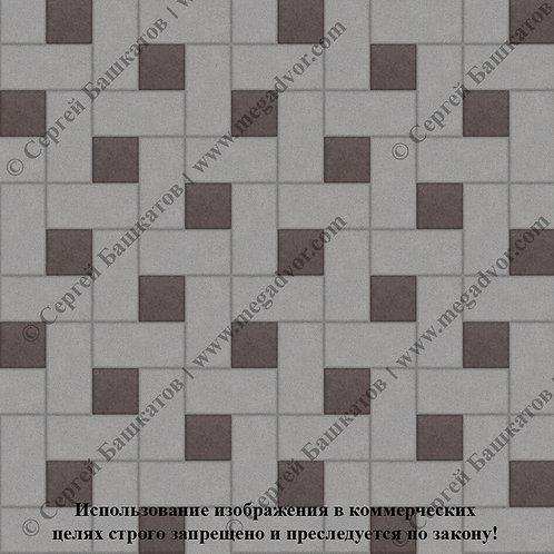 Кирпичик Вставка (серый, коричневый)