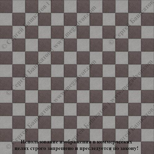 Квадрат 100х100 Шахматы (серый, коричневый)
