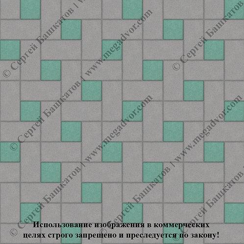 Кирпичик Вставка (серый, зелёный)