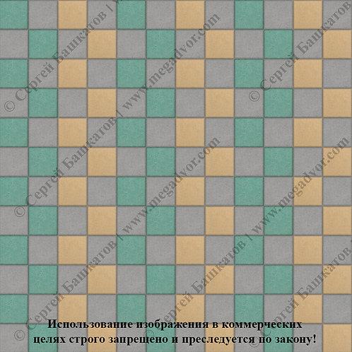Квадрат 100х100 Стандарт (серый, зелёный, жёлтый)