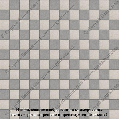 Квадрат 100х100 Шахматы (серый, белый)