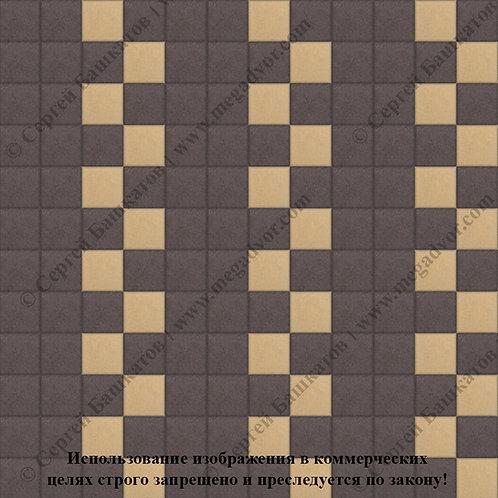 Квадрат 100х100 Эконом (коричневый, жёлтый)