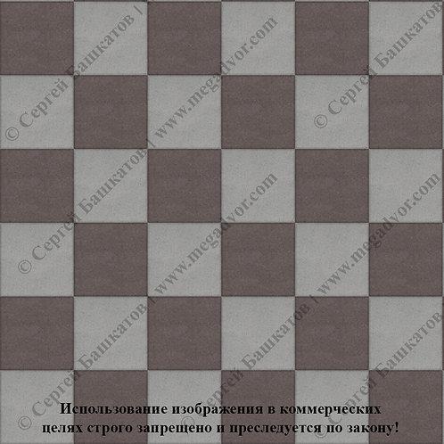 Квадрат 200*200 Шахматы (серый, коричневый)