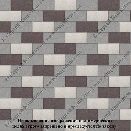 Кирпичик Стандарт (серый, коричневый, белый