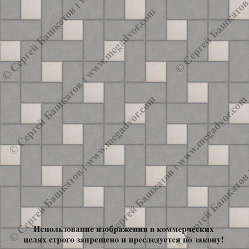 Кирпичик Вставка (серый, белый)
