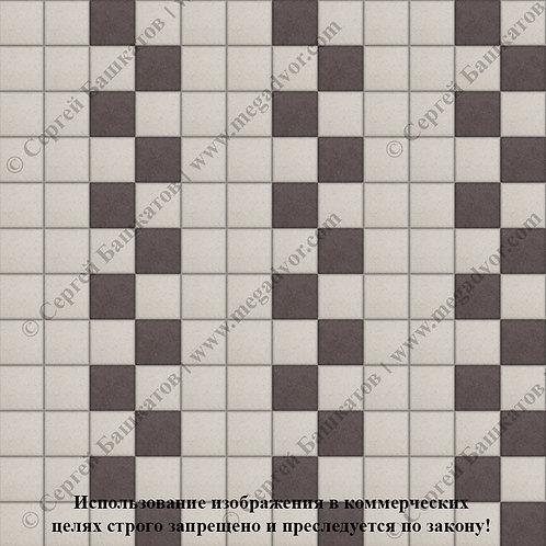 Квадрат 100х100 Эконом (белый, коричневый)