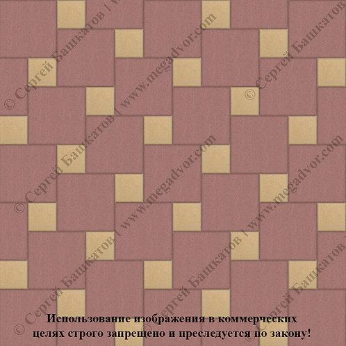 Квадрат со Вставкой (красный, жёлтый)