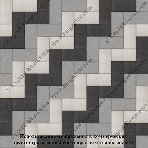 Кирпичик Максимум (серый, чёрный, белый)
