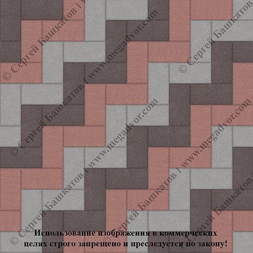 Кирпичик Максимум (серый, красный, коричневый)