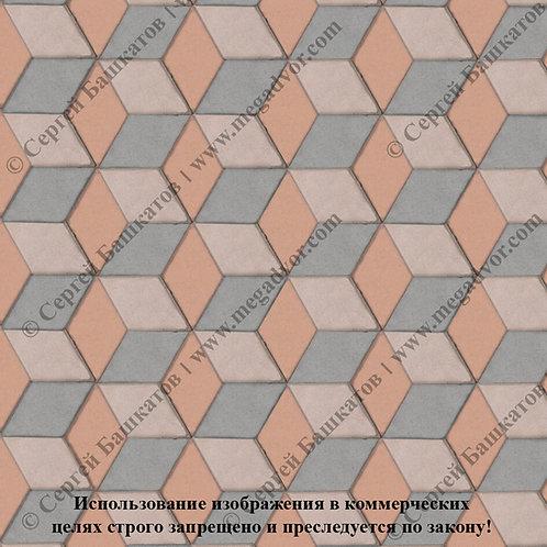 Ромб 3D Мини (серый, бежевый, оранжевый)