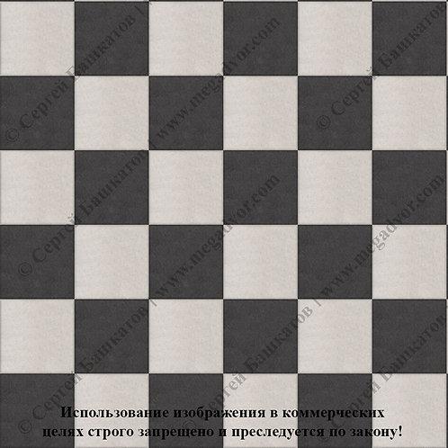 Квадрат 200*200 Шахматы (белый, чёрный)